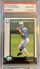 New listing 1998 Bowman Peyton Manning Rookie #1 Colts PSA 10