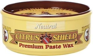 Howard Citrus Shield Paste Wax with Beeswax, Orange Oil & Carnauba Wax for Wood