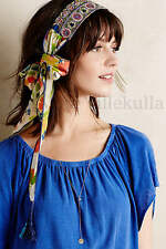 New Anthropologie Anniana Turban ~ Vismaya Embroidered Floral Head Scarf