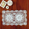 """Handmade Crocheted Doily Doilies Placemat Cotton Christmas Party Mat 10.6x16.9"""""""