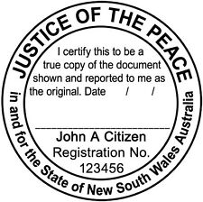 NSW01 JUSTICE OF THE PEACE NSW Custom Flash Stamp Pre & Self Inking Refillable