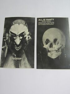 Shackman Halloween Set of 2 Visual Illusion Postcards