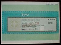 Bayer AG Aktie über 5 DM Muster Leverkusen 1996