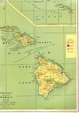 1963 Vintage Hawaii Map Rare POSTER PRINT Size Map Hawaiian Islands Map #3739