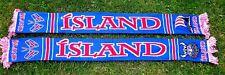 ISLAND Schal + ISLAND + 2018 + neu+100 % Acryl+  Fan Kurve Block ICELAND WM