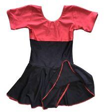 Arabesque gymnastics leotards ,dance Dress In Size 2 Age 4-5-6 Short Red Black