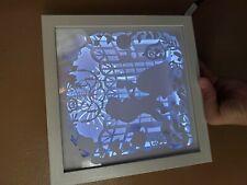 Custom 3d beauty and the beast shadow box with lights