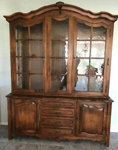 Ethan Allen Country French China Cabinet Buffet #26-6318 #236 Fruitwood Finish