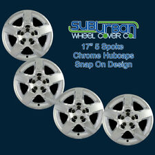 "'07-10 Saturn Aura Replacement 17"" Chrome Hubcaps Wheel Covers WCHC327717CH SET"