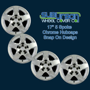 """'07-10 Saturn Aura Replacement 17"""" Chrome Hubcaps Wheel Covers WCHC327717CH SET"""
