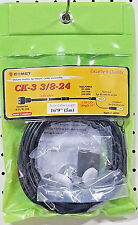 Comet CK-3 3/8-24 Deluxe 2-Step Cable Assembly for 3/8x24 Thread Antennas