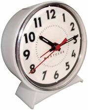 Westclox 15550 White Dial Wind Up Loud Bell Alarm Clock No Batteries