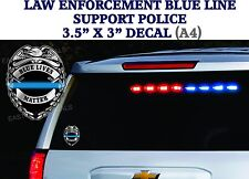 2 decals Support Police Thin Blue Line Officers DECAL Sticker BLUE LIVES MATTER
