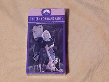 The Ten Commandments + Jesus (VHS x 2) Cecil B. De Mille's) Free Ship.) *NEW*