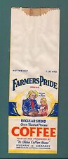 EARLY FARMERS PRIDE 1 POUND LB COFFEE BAG.HULMAN TERRE HAUTE EVANSVILLE INDIANA