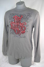 New Mens Medium Fox Racing Riders Gray Red Thermal Long Sleeve Shirt $35