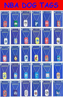 """TWO NEW NBA LICENSED BASKETBALL METAL DOG TAG NECKLACE + FREE 22"""" METAL CHAINS"""