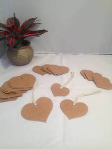 24  Heart Shaped Gift Tags