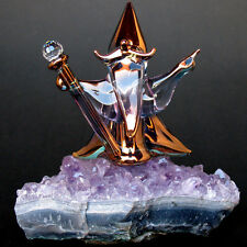 Wizard Figurine Sculpture Blown Glass Amethyst Crystal