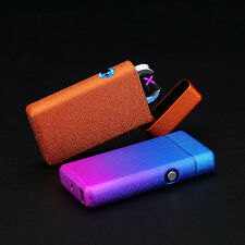 Double Arc Light USB Electronic Battery Frosted Cigarette Lighter
