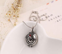Vampire Diaries Elena Gilbert Antique Silver Locket Pendant Necklace UK Stock