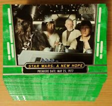 Star Wars Topps 40th Anniversary Green Set 1-200 Cards ALL MINT in PLASTIC
