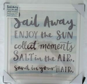 Bnib Arthouse Beach House Typography Mounted Picture