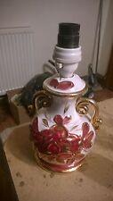 "Vintage Italian Mid Century 7"" Table Lamp Porcelain Ceramic Lovely Shabby Chic"