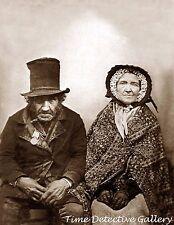 Creepy Victorian Couple - Historic Photo Print