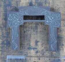 """""""MASKEN"""" Rahmen Jugendstil Druckstock Klischee Druckplatte Art Nouveau Karneval"""