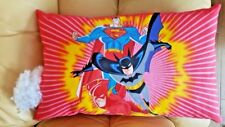 Super Hero Pillow Superman Batman the Flash PILLOW Cushion Sofa Car Cotton 100%