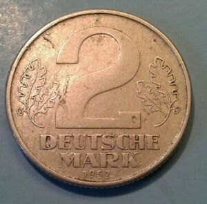 Germany East 2 Mark coin 1957