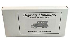 HO Vintage Jordan Highway Miniatures 1928 ModelKit Sealed Box