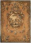 Amazing 5X8 Antique French Tapestry Fine Wool & Silk Beige C.1850 158cm x249cm