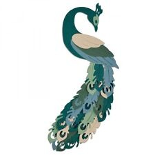 Sizzix Thinlits Cutting  Die PEACOCK  7pk by Pete Hughes 661707
