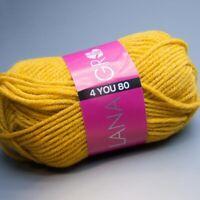 Lana Grossa 4 YOU 80 - 811 schwefel 50g Wolle (3.90 EUR pro 100 g)