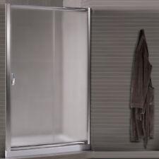 Box doccia porta nicchia 125 scorrevole bagno ante in cristallo 6 mm vetro opaco