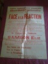 Affiche POLITIQUE - 210716 - Part Communiste français élections Cantonnales 1945