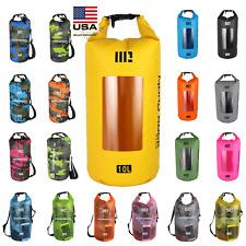 US Mororock 10L 15L 20L PVC Kayak Fishing Camping Waterproof Dry Bag