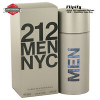 212 Cologne by Carolina Herrera EDT Spray for MEN 3.4 6.8 1.7 1 oz 100 ML 200 ML
