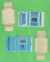 #D292. TWO EMPTY CAPSTAN NAVY CUT  CIGARETTE PACKETS - DIFFERENT PRINTINGS