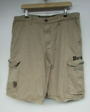 BILLABONG Beige Combat Cargo Cotton Shorts W38 L12 Embroidered Logo Above Knee