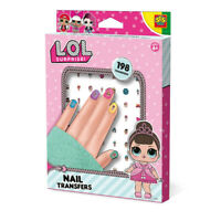 LOL SURPRISE Children's Nail Transfers Set, 198 Nail Transfers