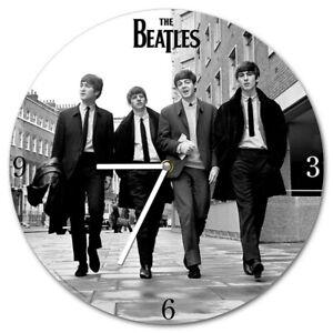 "The Beatles Wall Clock Battery Operated Wood John Paul Ringo George 13.5"" Gift"