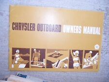 1967 Chrysler Outboard 3.5 4.4 6.6 HP Owner Manual MORE BOAT ITEMS IN STORE  S