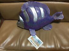 2000 Animal Alley PURPLE SPARKLE & SILVER FISH PLUSH Toys R Us NWT