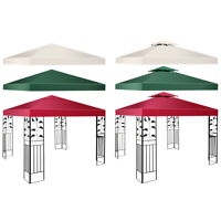 10' X 10' Gazebo Top Cover Patio Canopy Replacement 1-Tier or 2-Tier 3 Color