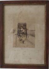 """ETCHING, Framed, """"LE DERRIERE"""", by C. De LORI, 1893, Boussod, Valadon & Co. Good"""