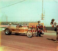 FRED GWYNNE The Munsters DRAGULA Photo CANDID BEHIND SCENES rare car DRAG RACE