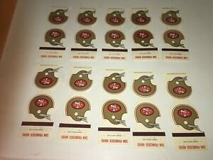 San Francisco 49ers  matchbook schedule lot of 10
